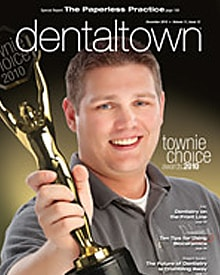 Dental Town magazine cover photo