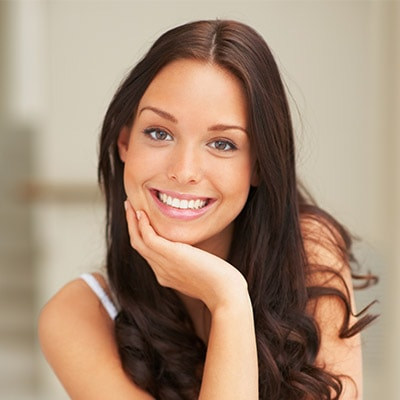 Photo of a young woman with a great smile
