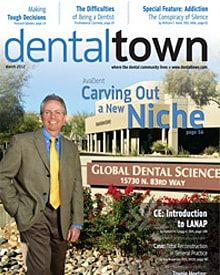 Dental Town magazine cover Thin is in Article
