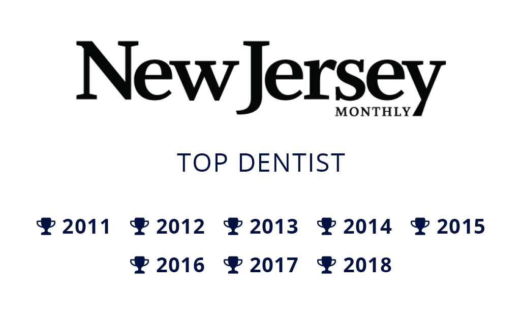 New Jersey Monthly logo featuring Dr. Nosti's Top Dentist