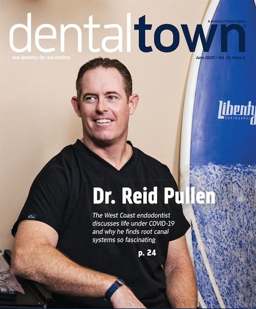 Dental town Magazine cover on cosmetic dentistry and predictable outcomes